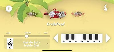 Options du jeu Music Crab